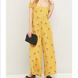 Free People Aster Gold Jumpsuit